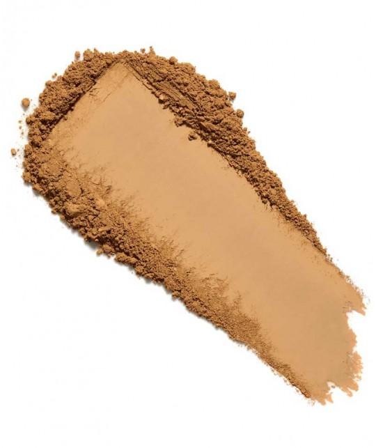 LILY LOLO Mineral-Puder Foundation SPF15 Cinnamon swatch Naturkosmetik