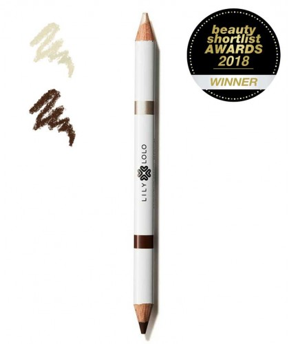 Lily Lolo Crayon Sourcils Duo 2 en 1 Redessiner Illuminer Maquillage naturel végétal