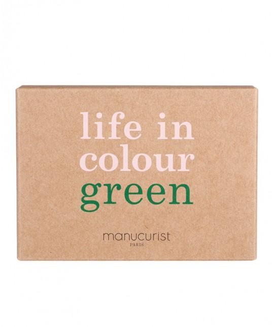 Manucurist Nagellack Green Box Three Steps Dark Pansy Bordeaux rot vegan Naturkosmetik