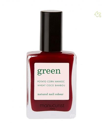 Manucurist Nagellack Green Dark Pansy Bordeaux rot vegan Naturkosmetik Set Box