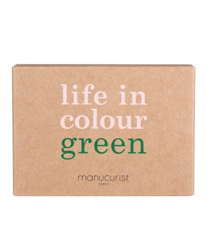 Manucurist  Vernis Green Hollyhock Coffret Three steps rouge noir rock vegan naturel