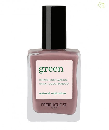 Manucurist Vernis GREEN Rose Mountbatten gris taupe naturel vegan swatch manucure