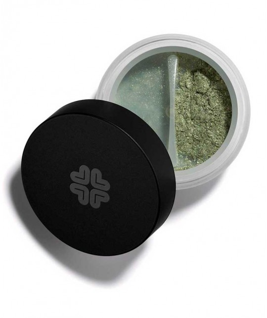 LILY LOLO - Mineral Eye Shadow Green Opal cosmetics natural beauty swatch