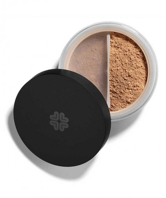 Naturkosmetik LILY LOLO Mineral-Puder Foundation SPF15 Coffee Bean green