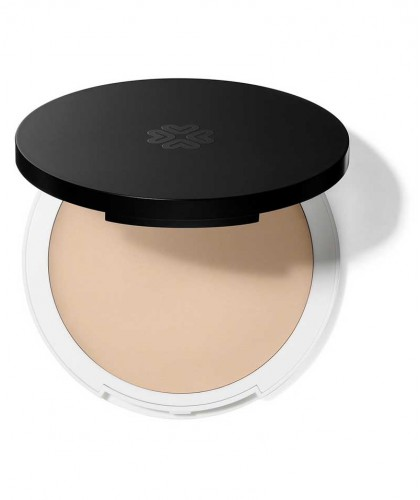 Lily Lolo Cream Foundation natural beauty Charmeuse green cosmetics clean swatch