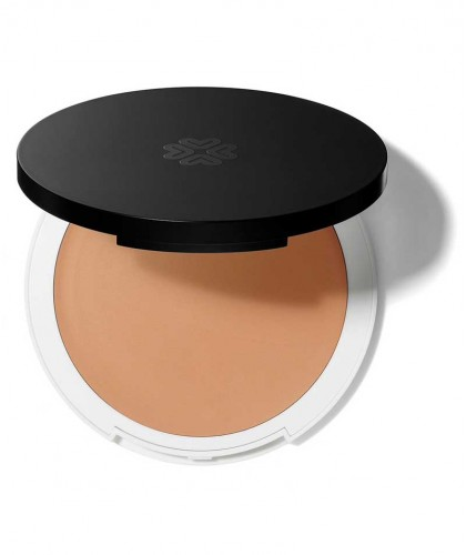 Lily Lolo Cream Foundation natural beauty Cashmere green cosmetics clean swatch