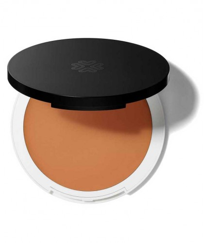 Lily Lolo Cream Foundation natural beauty Suede green cosmetics clean swatch