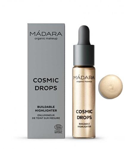 Highlighter Madara Enlumineur de Teint liquide bio Cosmic Drops maquillage bio beauté clean green Naked Chromosphere 1