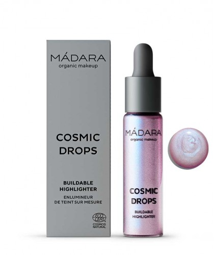Madara organic makeup Buildable Highlighter Cosmic Drops liquid natural beauty certified vegan Aurora Borealis 4