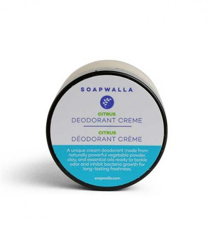 Soapwalla Citrus Deodorant cream Organic vegan natural skincare lemon