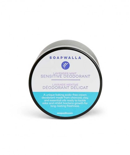 Soapwalla Natural Deodorant Cream Sensitive Skin Lavender Organic Vegan