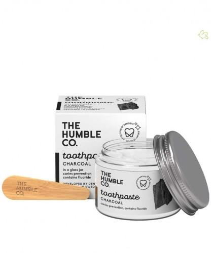 Zahnpasta im Glas Aktivkohle Natural Toothpaste Charcoal