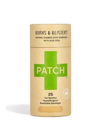 PATCH by Nutricare Pansements adhésifs naturels - Aloe vera Vegan peau sensible allergique biodégradable respirant zero déchet
