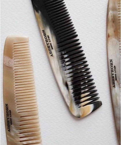 ABBEYHORN Horn Pocket Comb double tooth (15 cm)