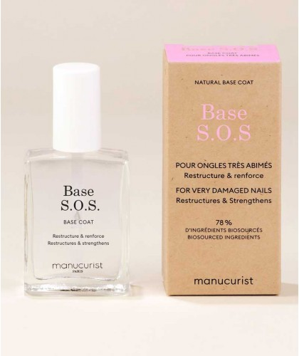 Manucurist Green Base S.O.S. soin ongles abimés naturel vegan