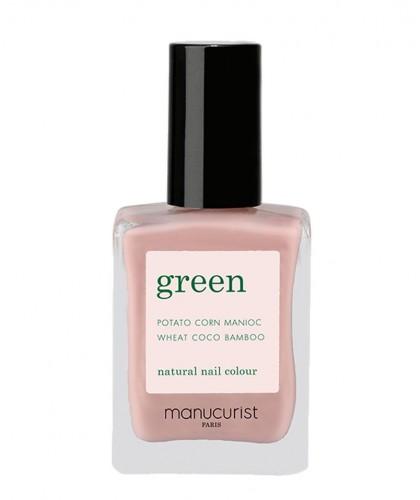 Manucurist Vernis GREEN Pink Satin vieux rose clair vegan