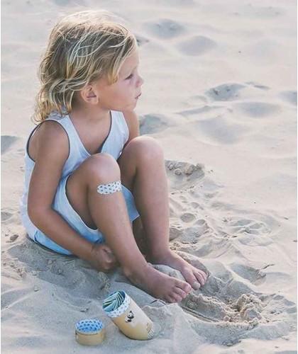 PATCH by Nutricare Pansements adhésifs naturels pour Enfant - Huile de coco bébé vegan respirable biodégradable