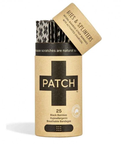 PATCH by Nutricare Bambus Pflaster - Aktivkohle strips schwarz Wundpflaster