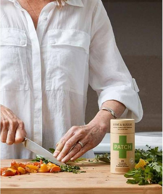 PATCH by Nutricare Pansements adhésifs naturels - Aloe vera Vegan peau sensible allergique biodégradable respirant
