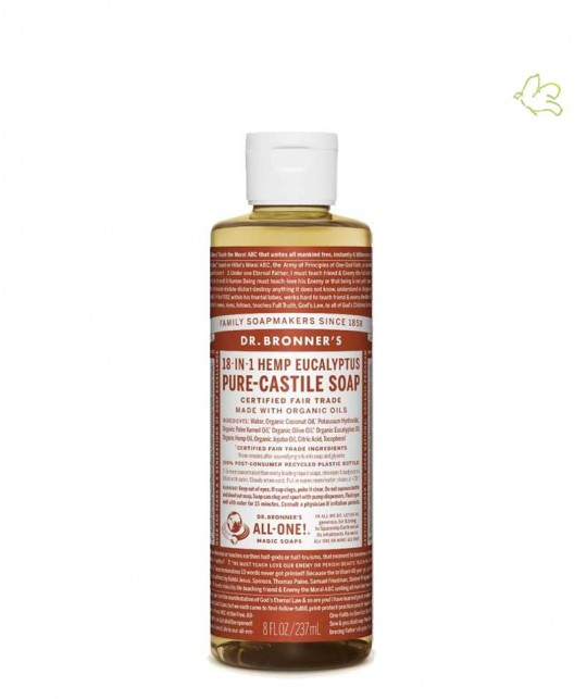 Dr. Bronner Organic Liquid Soap Eucalyptus 240ml - 8 oz.