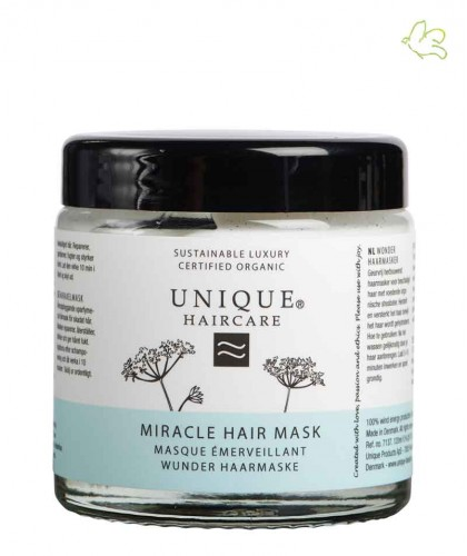 Unique Haircare Miracle Hairmask organic hair treatment Sheabutter dry and damaged hair