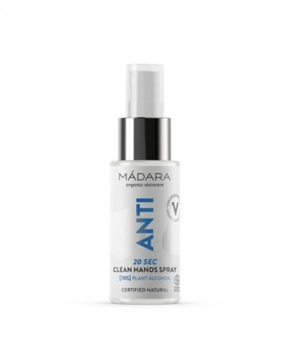 MADARA organic skincare ANTI 20 SEC Clean hands spray with alcohol (70%) antibacterial natural