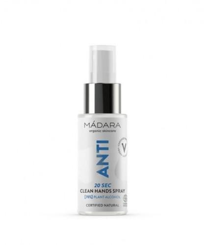 MADARA cosmétique Spray Désinfectant Mains bio ANTI Clean Hands antibactérien hydratant