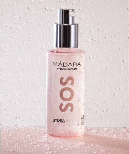 MADARA Gel hydratant bio à la rose SOS Hydra Intense Rose Jelly