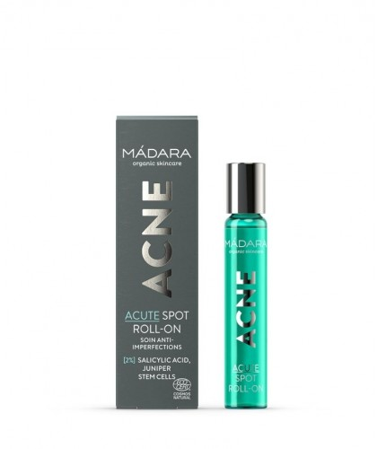 MADARA cosmétique bio ACNE Roll-On Anti-Imperfections bouton points noirs