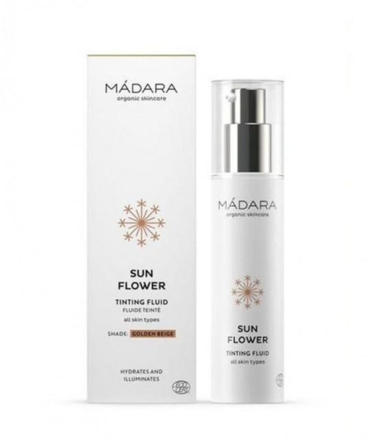 MADARA - Sun Flower BB Cream Golden Beige Tinting Fluid 50ml swatch