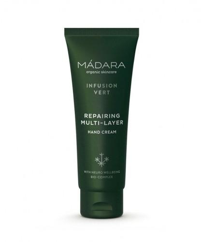 Madara - Crème Mains Réparatrice bio Infusion Vert cosmétique green naturel cosmetics