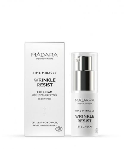 MADARA TIME MIRACLE Wrinkle Smoothing Eye Cream Anti Aging Augencreme Naturkosmetik vegan cruelty free