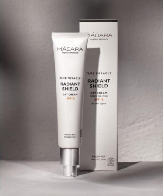MADARA Naturkosmetik Anti Aging Tagescreme TIME MIRACLE Radiant Shield SPF15 Sonnenschutz