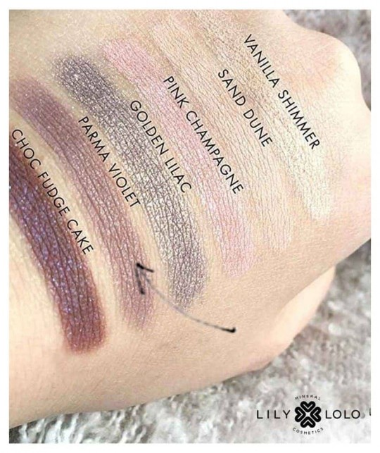 LILY LOLO Lidschatten Mineral Eye Shadow Parma Violet swatch
