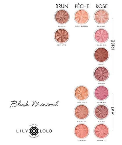 Lily Lolo Mineral Blush natural colors shades swatch