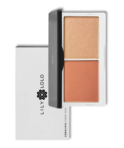 Lily Lolo Cheek Duo Coralista mineral cosmetics Wangenrouge & Highlighter
