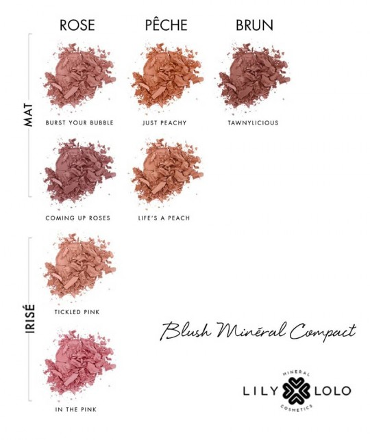 Lily Lolo Blush naturel Compact swatch maquillage Minéral