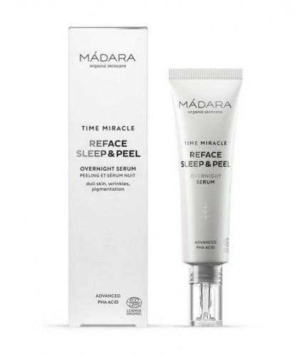 MADARA organic skincare Anti-Aging Reface Sleep & Peel Overnight Serum TIME MIRACLE