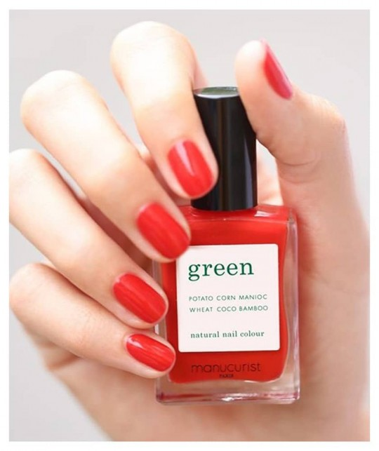 MANUCURIST Vernis GREEN Poppy Red - rouge swatch