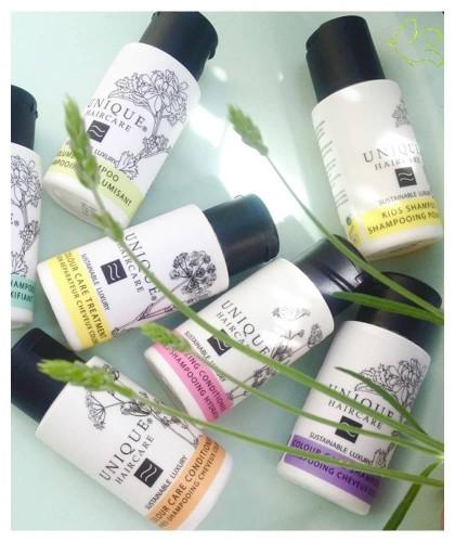 UNIQUE Haircare Moisturizing Conditioner cornflower 50ml travel size organic cosmetics