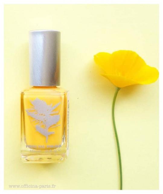 Priti NYC - Vernis green naturel jaune vegan Ongles Flowers - Lampshade Poppy
