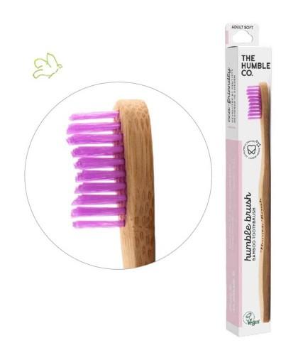 Bamboo Toothbrush Humble Brush Adult - pink Soft Nylon bristles Vegan