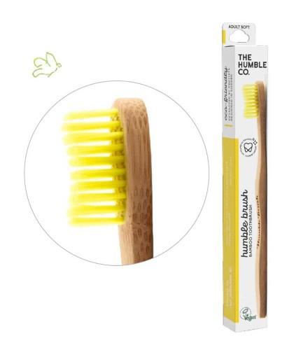 Bamboo Toothbrush Humble Brush Adult - yellow Soft Nylon bristles Vegan