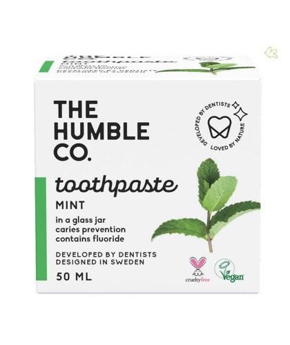 Dentifrice Naturel Menthe pot en verre Humble Co. Vegan fluor zéro déchet
