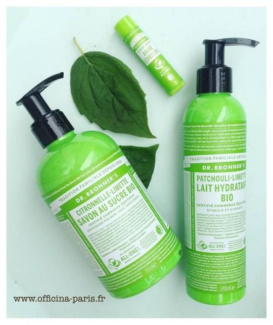 Dr. Bronner's Lait corps Hydratant bio Beauté green patchouli citron certifié vegan