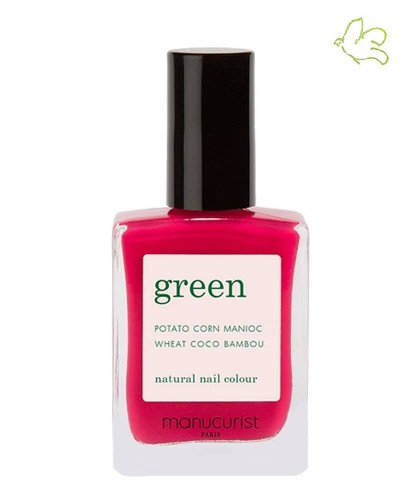MANUCURIST Vernis naturel GREEN - Peonie rose intense non toxique cruelty free Made in France