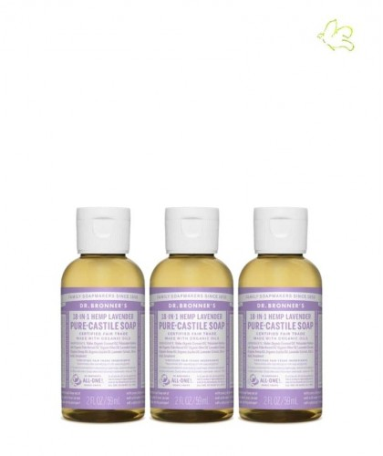Dr. Bronner's Set Angebot 3 Flüssigseifen Lavendel mini reisegrösse