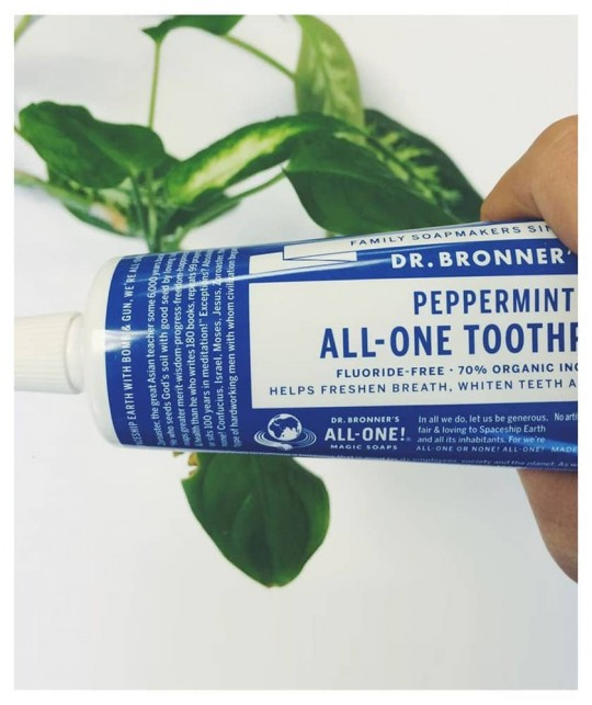 Dr Bronner's natural Toothpaste Peppermint All-One organic vegan
