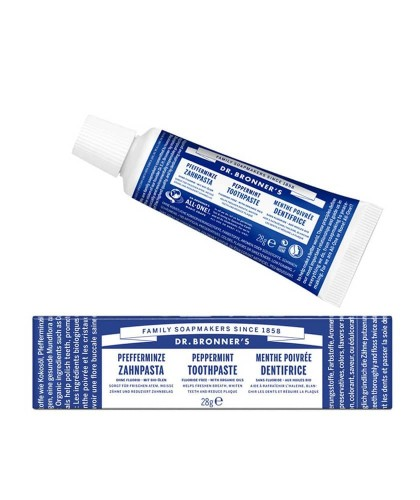 Dr. Bronner's natural Toothpaste Peppermint travel size All-One vegan