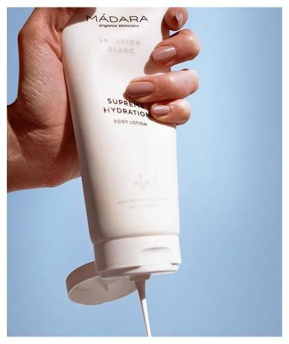MADARA cosmétique bio Lotion Corps Hydratante Infusion Blanc